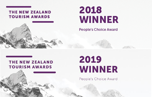 NZ Tourism Award Winner Banner Forgotten World Adventures